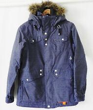 Volcam Nimbus Snowboard Jacket 10000MM/10000GM2 Hooded Blue Size S
