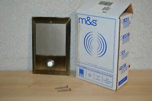 DSB Intercom Door Station w/Bell Button for M&S MusicSound System w/ Screws