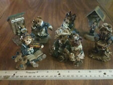 7 Boyds Bears Figurines #2414, #3535V, #2277, #2415, #227711 Fisher and Lookout