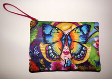 Clutch Bag Print Butterfly Crossbody Purse New Leather Cosmetic Pouch Wristlet