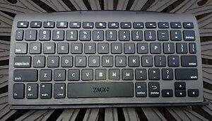 ZAGG keys Universal Keyboard Case & Stand for iPad & Samsung Tablet - Black NEW