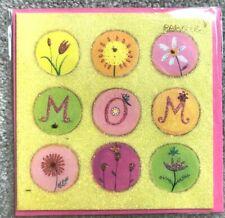 Papyrus Mothers Day Card - Glitter Garden of flowers & butterflies