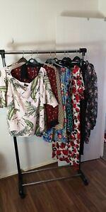 Womens Ladies Clothes Bundle Size 28 Blouse Dress Trousers Shirt Top Tshirt X8