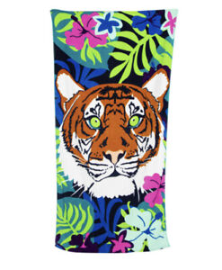tiger beach towel 30in x 60in