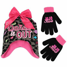 Nickelodeon JoJo Siwa Hat and Gloves Cold Weather Set, Little Girls, Age 4-7