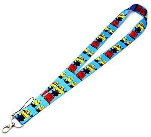 Disney Despicable Me Minions Blue Lanyard/Landyard ID Holder Keychain-Brand New!