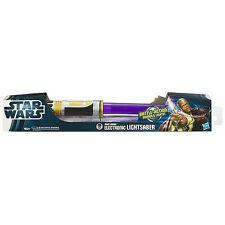 1PC Hasbro Star Wars Electronic Lightsaber MACE WINDU/DARTH VADER/QUI-GON JINN