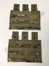 SET OF 2 NEW US Military Multicam Triple Mag Magazine Pouch MOLLE 3 X 30 Round
