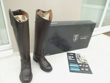 """NEW JUSTTOGS JTE NEBRASKA FIELD LONG BOOTS,BROWN LEATHER,5 UK,14"""" CALF,BOXED"""