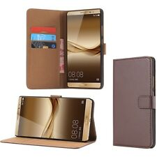 Genuine leather flip shockproof wallet cover slot case for Huawei Mate 8