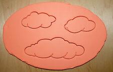 3 Pcs. Clouds Cookie Cutter Set - 3d printed plastic