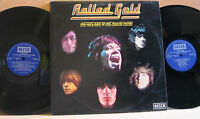 """""""ROLLED GOLD"""" THE ROLLING STONES 1975 UK STEREO/MONO DECCA G/F DBL LP ROST 1/2"""