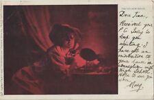 VILLAGE BELLE Pretty Lady Red Light Tucks 826 Colour u/b PC Uddingston 1902