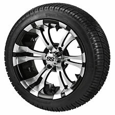 (4) ITP 14 SS LSI HD Aluminum Alloy Golf Cart Car Rim Wheels & DOT D.O.T. Tires