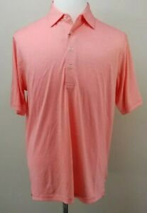 DONALD ROSS Golf Polo Shirt, Mens Size M, Coral, Short Sleeves, Stretch, NEW