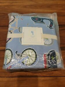 POTTERY BARN KIDS Full Queen Scooter Bicycle Bike Duvet Cover Only