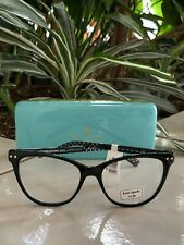 KATE SPADE JOHNESHA READERS +2.00 BLACK WITH WHITE POLKA DOTS NEW WITH TAG