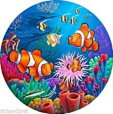 Jigsaw puzzle Animal Fish Clown Club 700 piece round NEW