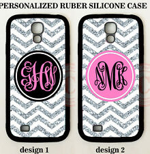 CUSTOM PERSONALIZED BLACK CHEVRON (W/OUT GLITTER) Case For Samsung GALAXY S6 S7