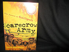 SCARECROW ARMY  Leon Davidson. Sc  Best books Gallipoli Campaign in WW1 in MELB