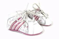 Adidas Baby Girl Shoes Crib Size 2 Infant White Pink Sneaker New