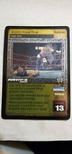 WWE Raw Deal ATOMIC KNEE DROP SS3 FOIL CARD UNIQUE