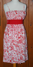 **Ladies, Red, Beach, House, Light, Cotton, Casual, Party, Dress size 12