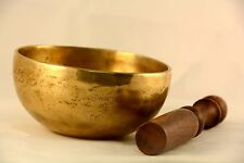 11 cm Tibetan singing bowl meditation with pillows and striker, Handmade Bowls