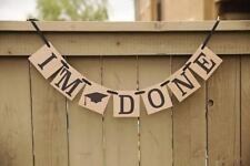 Graduation Banner I am Done, Graduation Party Decorations Supplies Favors