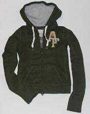 NWT ABERCROMBIE Womens Vintage Classic Hoodie Sweatshirt Zip Up jacket Olive S