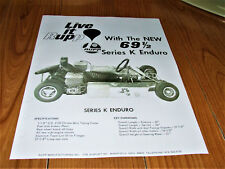 "WOW"" VINTAGE 1969-1/2 Rupp SERIES K ENDURO GOKART / GO KART AD ( REPRODUCTION )"