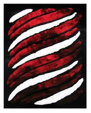 Dimension Shaggy Stripes White and Red