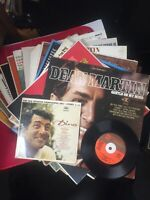 16 Vintage Vinyl  LP Record Lot Dean Martin Dino Gentle On My Mind 33 & 45 RPM