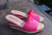 Juicy Couture SHOES SANDALS JELLIES HIGH Heel Platform Wedges 9 PINK