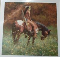 """Color of Sun"" Limited Edition Print by Howard Terpning 455/1000 original folder"
