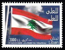 LEBANON - LIBAN SC# 735 LEBANON FLAG DAY NOVEMBER 21 MNH STAMP SINGLE