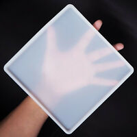 Square Rectangle Coaster Silicone Mold Epoxy Resin Fluid Casting Art DIY Tool