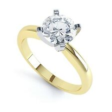 18 Ct Redondo Brillante Corte Diamante Anillo Solitario - Tradicional
