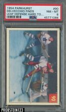 1954 Parkhurst Hockey #90 Delvecchio Finds Leaf Defense Hard To.. PSA 8 NM-MT