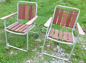 Vintage Aluminum Lawn Rocking Chair Orange /& Beige Weaved Macrame Fold Up Mid Century Modern Folding Camping Seat Outdoor Furniture Seating