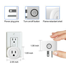 2 Pack Smart Plug Wifi Switch Socket Outlet Remote Control Google Assistant