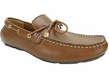Alfani Men's Tanner Pebbled Drivers Shoes Tan Brown Leather Size 8.5 M