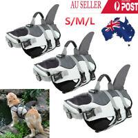 Dog Floating Aid Pet Swimming & Boating Shark Life Jacket Safety Vest Flotation