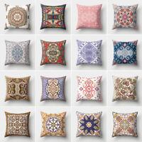 AB_ Retro Pillow Case Symmetrical Flower Cushion Cover Car Home Bed Decor Mystic