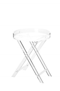 Artmaze Clear Acrylic Folding Table,Round Tray Drink Table,for Office, for Room