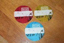 NIN Nine Inch Nails - 3 x unused Backstage Pass - FREE POSTAGE - Nice