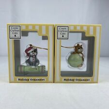 Comic and Curious Cats Christmas Ornaments Enesco NEW in BOX