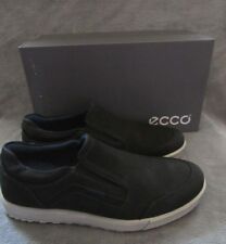 ECCO Ennio Modern Black Leather Slip On Shoes Sneakers US 10 - 10.5 EUR 44 NWB