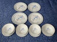 Vintage 1987 Newcor Stoneware Countryside Goose Geese 12 Piece Dinnerware 6005