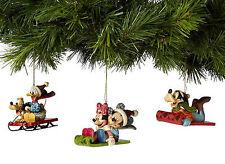 Enesco Jim Shore Disney Traditions Sledding Theme Ornaments NIB  4039086